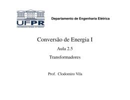 Conversão de Energia I - Prof. Dr. Clodomiro Unsihuay Vila