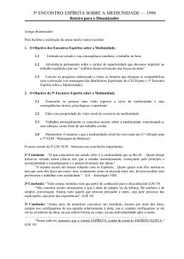 5o ENCONTRO ESPÍRITA SOBRE A MEDIUNIDADE — 1998