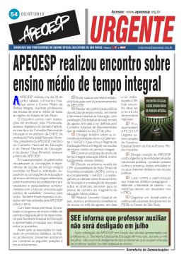 APEOESP realizou encontro sobre ensino médio de tempo integral