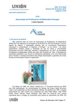 APM Associação de Professores de Matemática Portugal.
