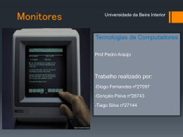 Monitores - Departamento de Informática da Universidade da Beira