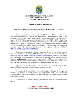Edital nº 04, de 13 de março de 2015