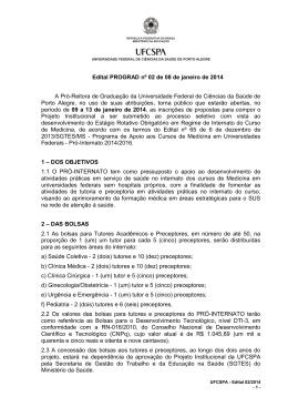 Edital 08/2009 e Normas do Concurso Público de Títulos