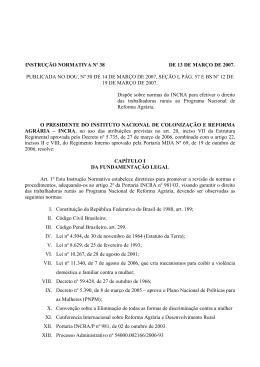INSTRUÇÃO NORMATIVA Nº 38 DE 13 DE MARÇO DE 2007