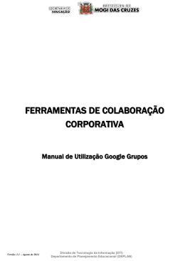 Grupos SE Utilização - Voltar Serviços da SE