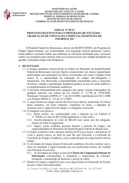 Edital Informática - Hospital Federal de Bonsucesso