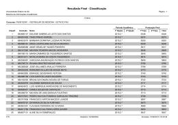 Resultado Final - Classificação