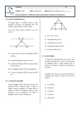 lista de exercícios - geometria plana