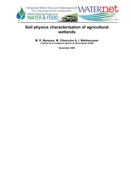 Soil physics characterization of agricultural wetlands