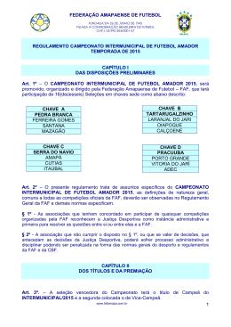 Regulamento - Federação Amapaense de Futebol