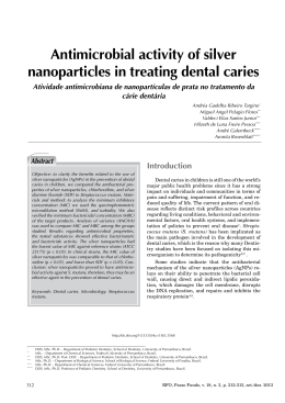 Antimicrobial activity of silver nanoparticles in treating dental caries