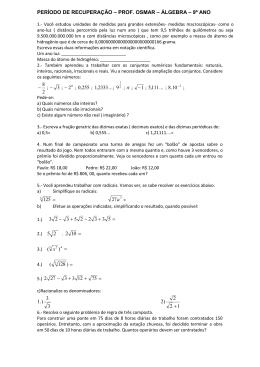 álgebra - seletivo