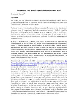 Proposta de Uma Nova Economia de Energia para o Brasil