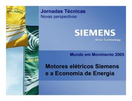 Motores elétricos Siemens e a Economia de Energia