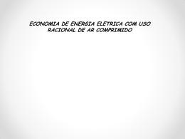 ECONOMIA DE ENERGIA ELETRICA COM USO