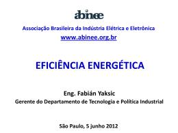 Apresentação Eficiência Energética - Abinee