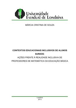 MÁRCIA CRISTINA DE SOUZA CONTEXTOS EDUCACIONAIS