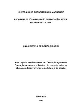 Ana Cristina de Souza Eicardi - início