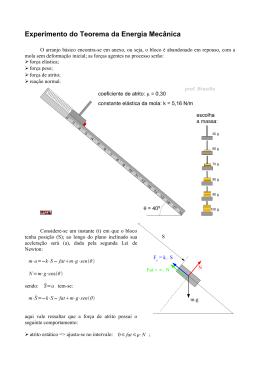 Experimento do Teorema da Energia Mecânica