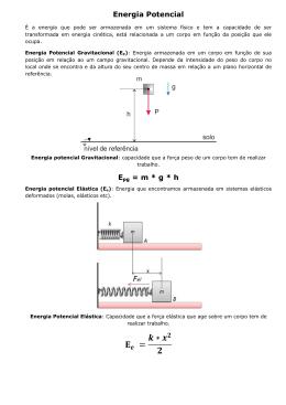 Energia Potencial e Conservação PDF