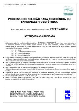 Enfermagem Obstétrica - Uff - Universidade Federal Fluminense
