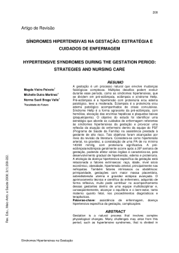 Artigo de Revisão SÍNDROMES HIPERTENSIVAS NA GESTAÇÃO