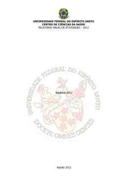 Relatório - Centro de Ciências da Saúde