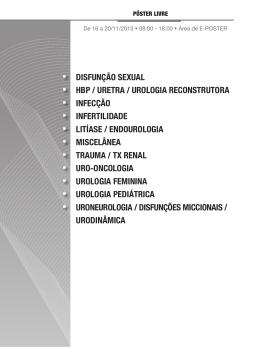disfunção sexual hbp / uretra / urologia reconstrutora infecção