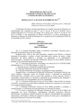 Resolução nº 6, de 20 de setembro de 2012