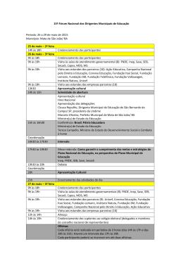 15º Fórum Nacional dos Dirigentes Municipais de