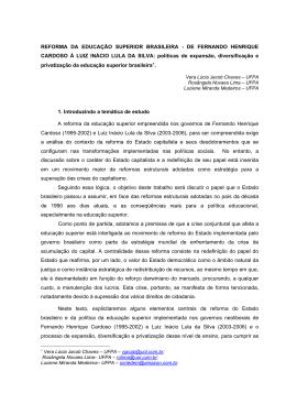 REFORMA DA EDUCAÇÃO SUPERIOR BRASILEIRA