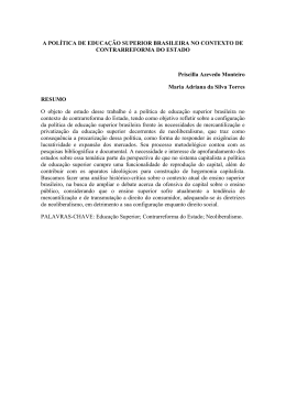 A POLÍTICA DE EDUCAÇÃO SUPERIOR BRASILEIRA NO