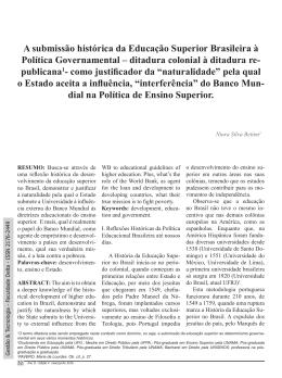 BETTIM, Niura Silva. A submissão histórica da Educação Superior