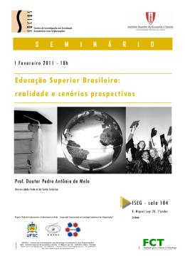 Educação Superior Brasileira: realidade e cenários