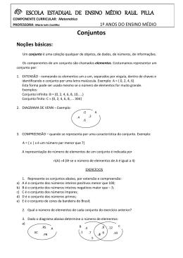 Conjuntos ESCOLA ESTADUAL DE ENSINO MÉDIO RAUL PILLA