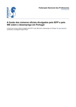 A ilusão dos números oficiais divulgados pelo IEFP e pelo