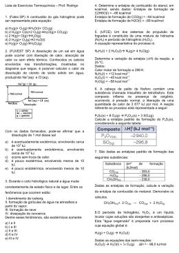 Lista Exercicios Termoquímica_cl