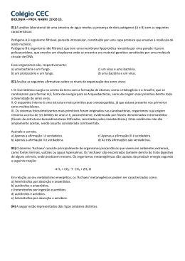 BIOLOGIA – PROF. NANNI 22-02-13. 01) A análise laboratorial de
