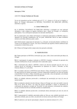 Texto da instrução N.º 37/96
