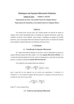 Modelagem com Equações Diferenciais Ordinárias