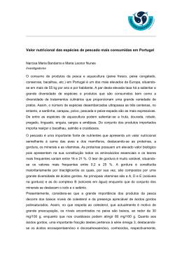 O consumo de produtos da pesca em Portugal é um dos mais