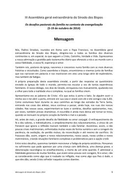 Mensagem do Sínodo dos Bispos de 2014