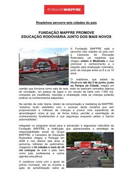fundação mapfre promove educação rodoviária junto dos mais novos
