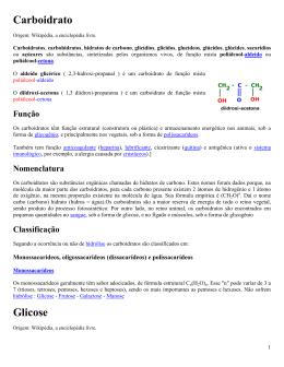 Carboidrato Glicose