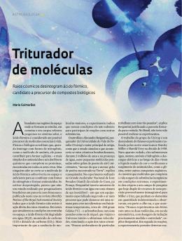 Triturador de moléculas - Revista Pesquisa FAPESP