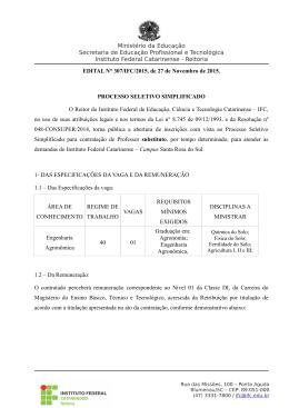 Edital 307-2015 Engenharia Agronômica - Editais