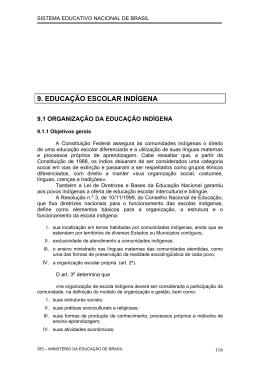 9. EDUCAÇÃO ESCOLAR INDÍGENA