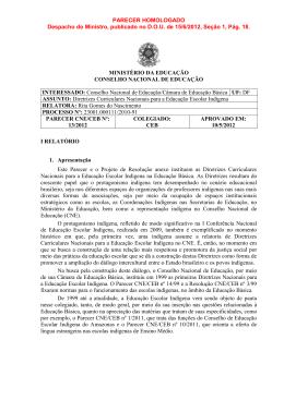 Parecer CNE/CEB nº 13/2012