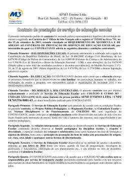 Contrato de Prestação de Serviço de Educação Escolar 2016 (Unid