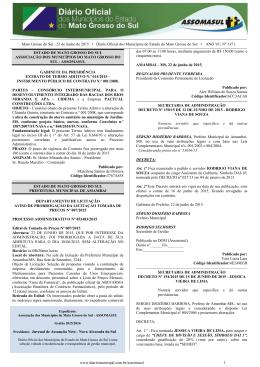 Mato Grosso do Sul , 23 de Junho de 2015 • Diário Oficial dos